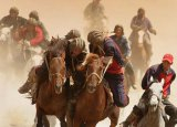 Uzbek customs and traditions - Buzkashi in Navruz